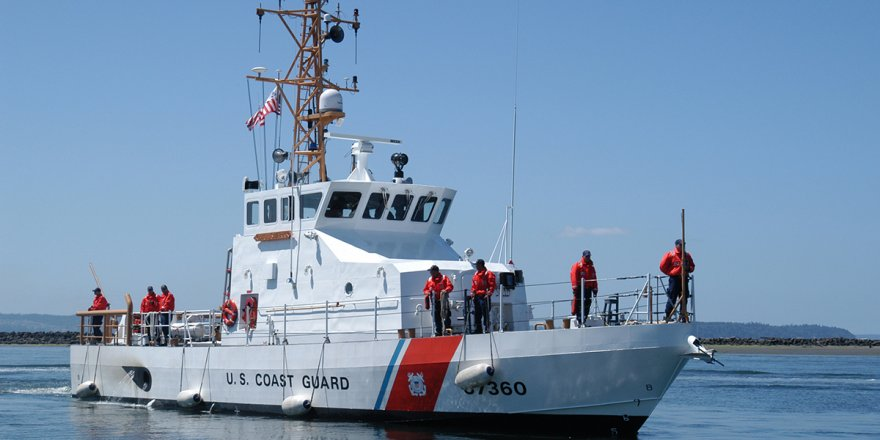 The U.S. Coast Guard rescues a man from disabled sailing vessel