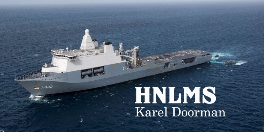 Dutch JSS Karel Doorman sails  for coronavirus relief mission