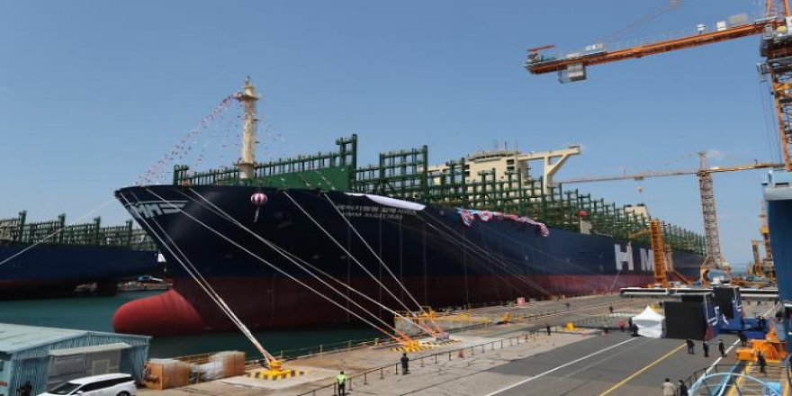 World's largest containership Hyundai's Algeciras launched