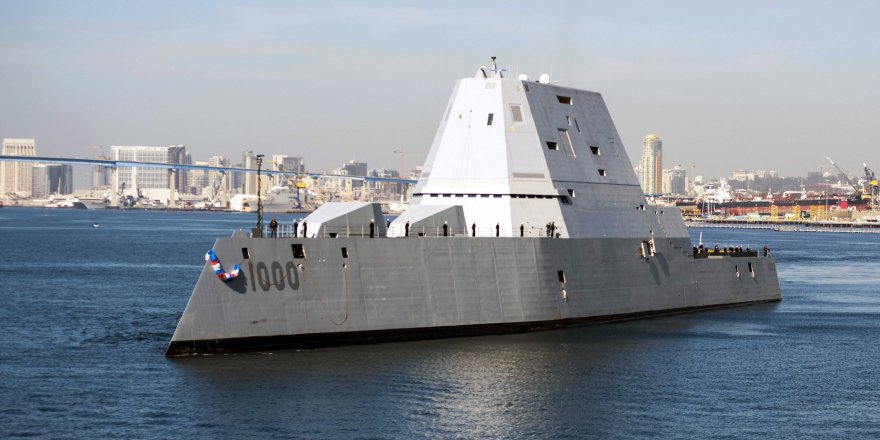 US Navy receives delivery of USS Zumwalt