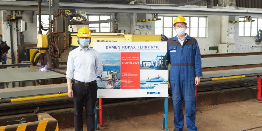 Damen Yichang holds digital steel-cutting ceremony for its new vessel