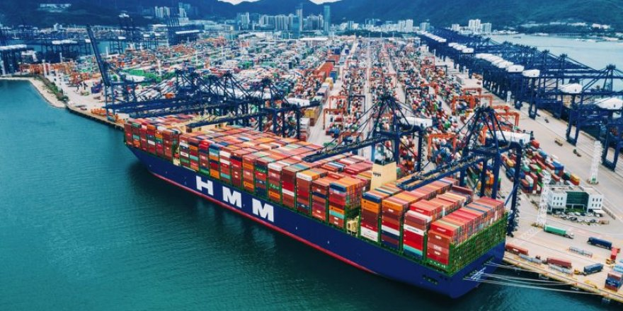World's largest containership departed China