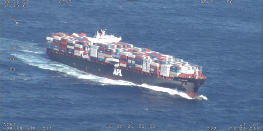 Containership lost more than 40 containers overboard