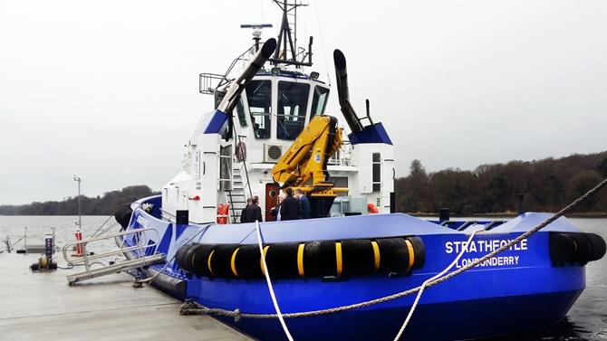 Damen ASD 2310 packs a punch for Foyle Port