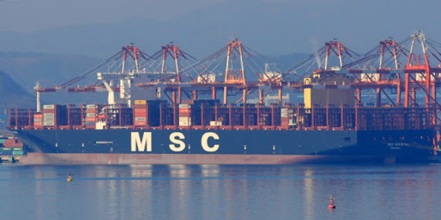 The world's second largest container ship begins operating