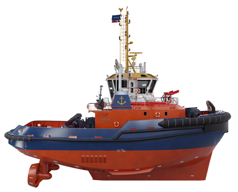 UZMAR and Port of Aarhus sign a contract for a tugboat