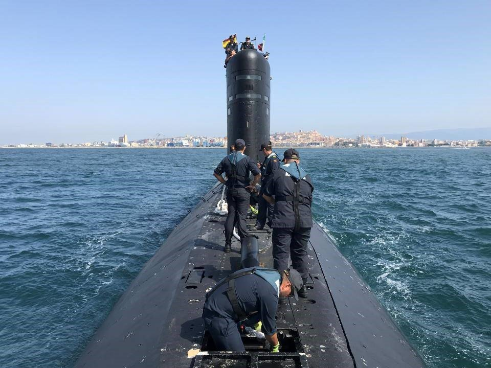 """Submarine """"Mistral"""" is decommissioned by the Spanish Navy"""