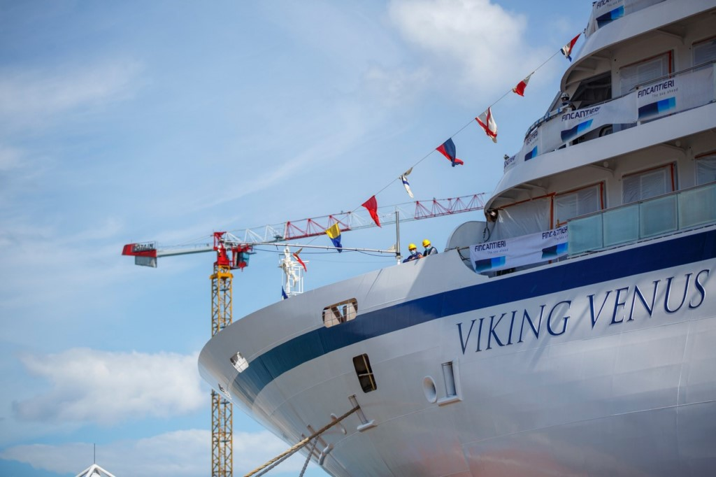 Viking launched newest cruise ship in Italy