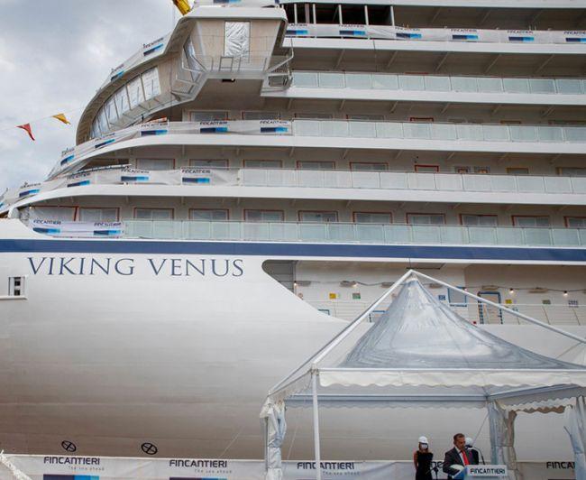 Fincantieri launched Viking Venus at Ancona shipyard