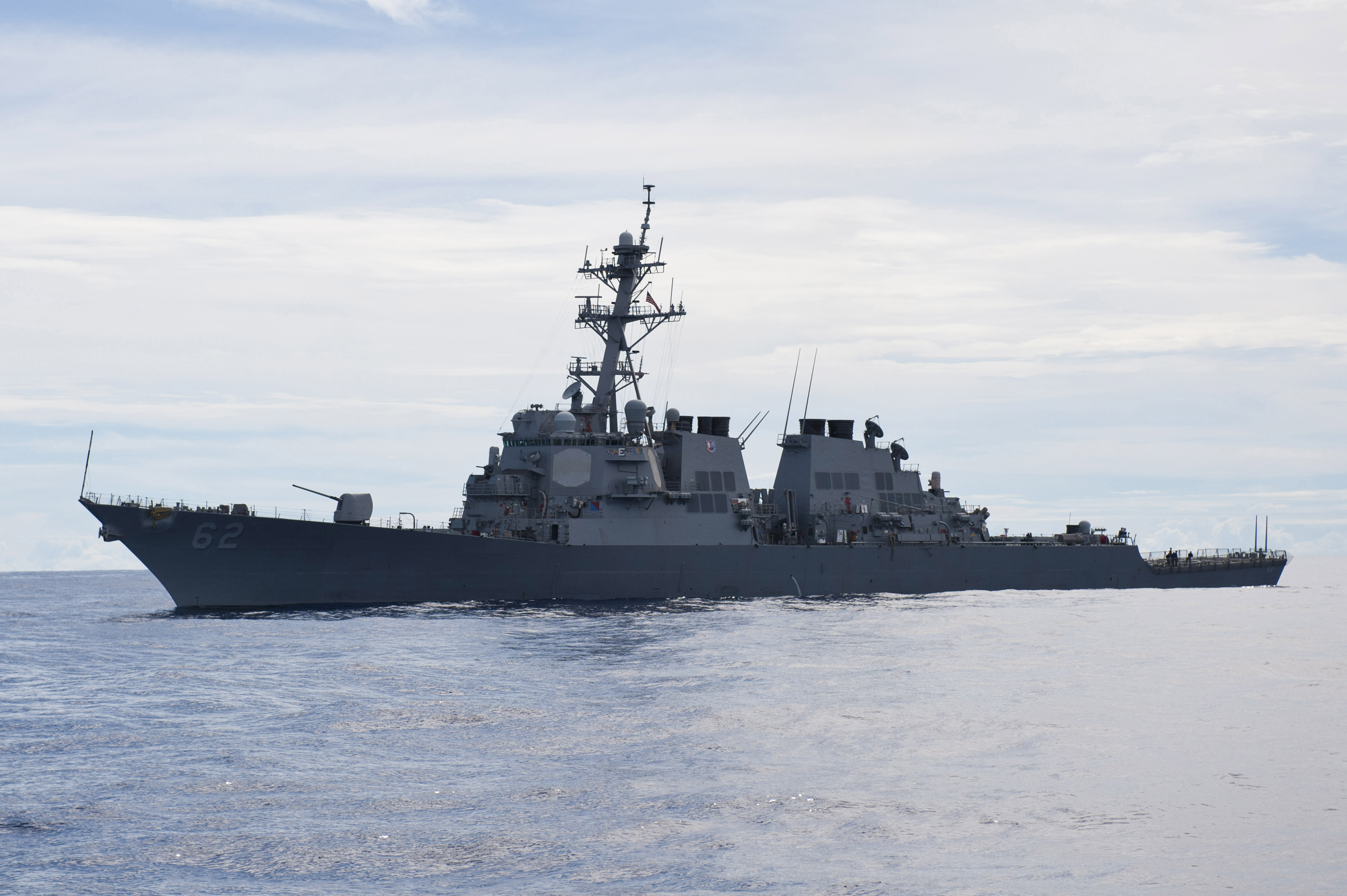 USS Fitzgerald on its way to San Diego after two years of repairs