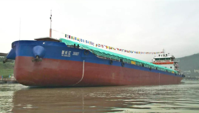 First hybrid inland ship of China started operations