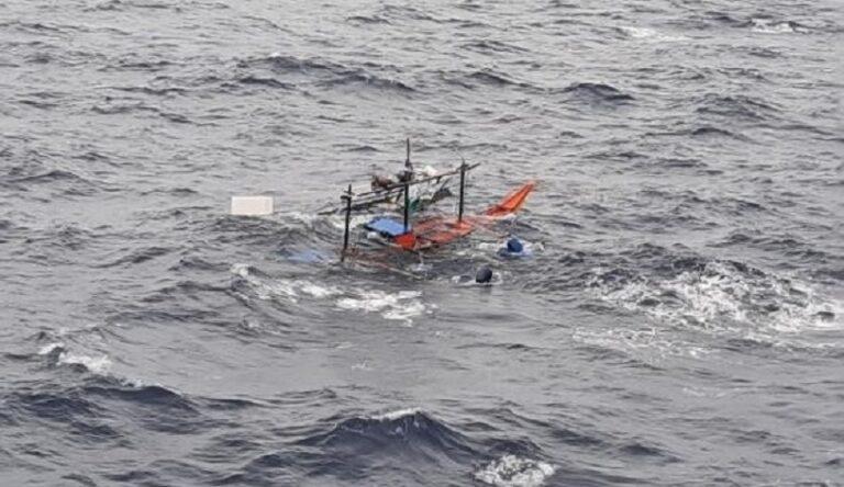 NYK vessel rescued four fishermen