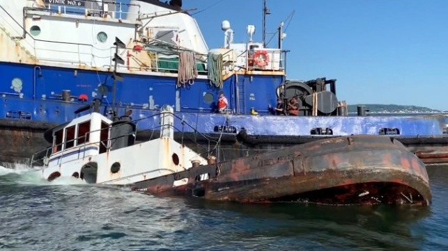 Tugboat sunk off New Jersey to become artificial reef