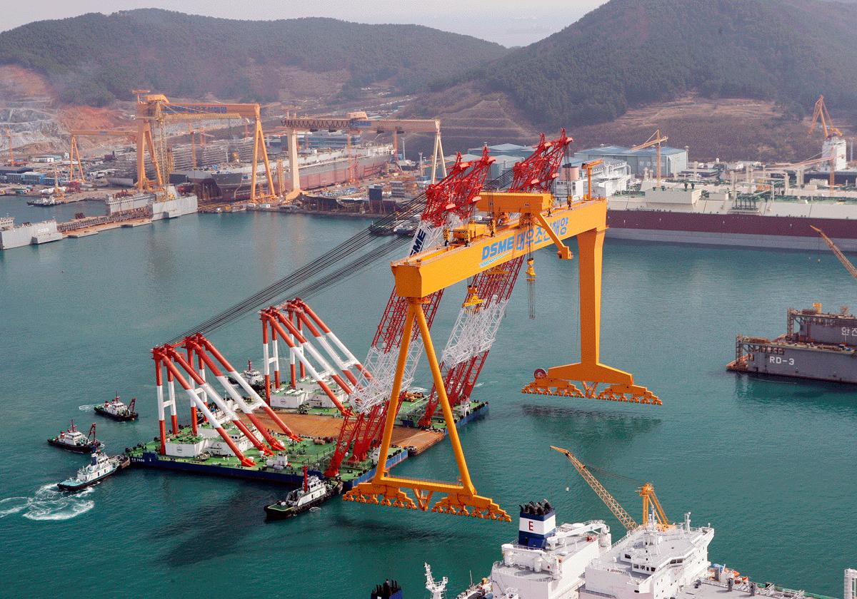 South Korean shipbuilders undergo sharp drop in new orders