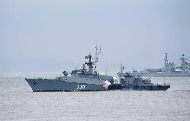 Russian Pacific Fleet held drills in the Sea of Japan