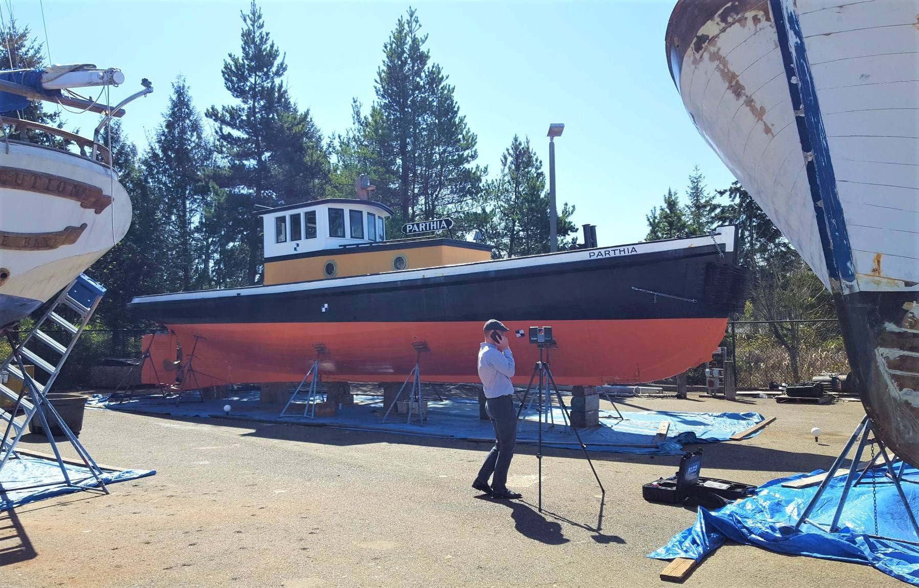 114-year-old surviving wooden tug being restored