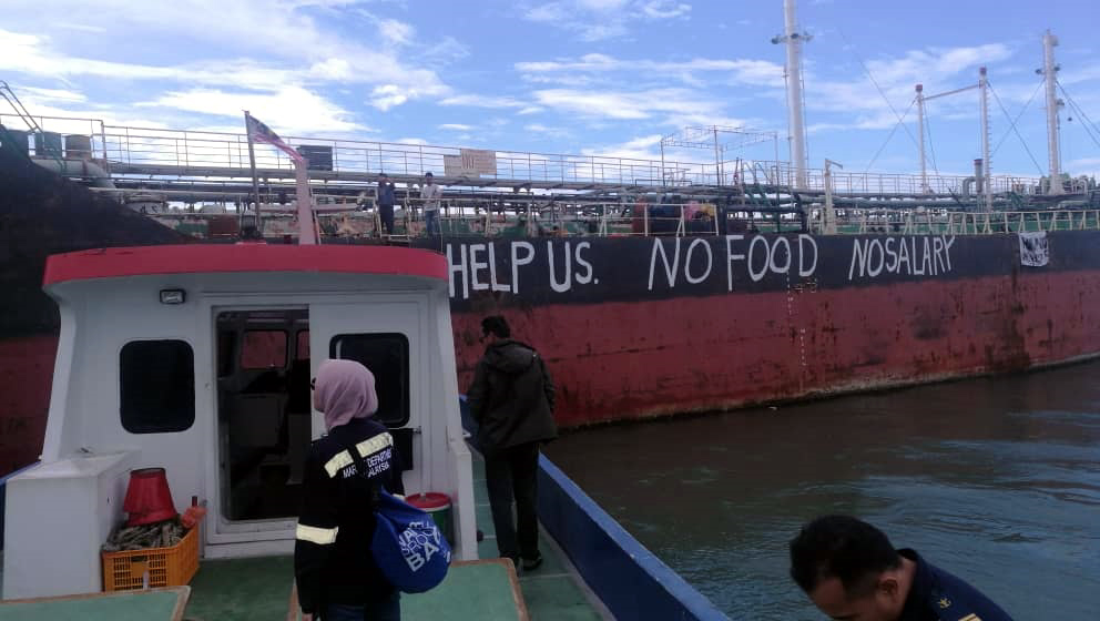 Abandoned crew left distress messages on vessel's hull