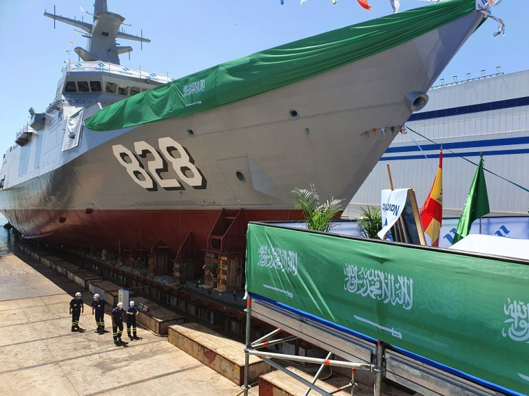 Navantia launches Saudi Arabia's first Corvette