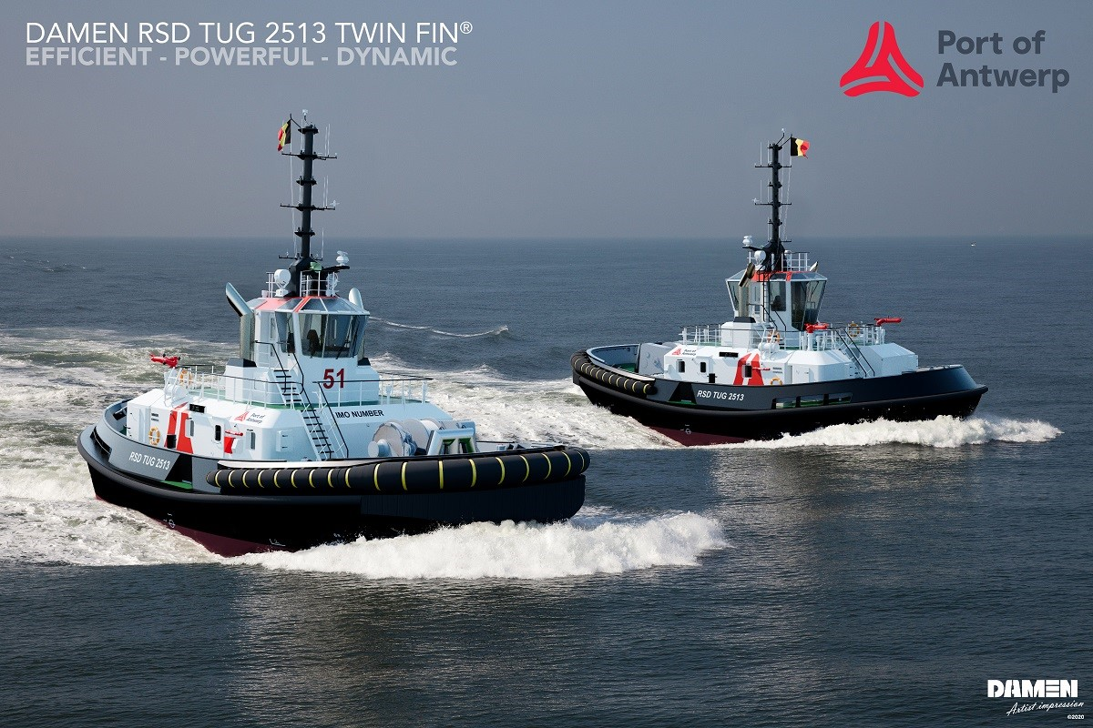 Damen to build two Tier III-compliant tugs for Port of Antwerp