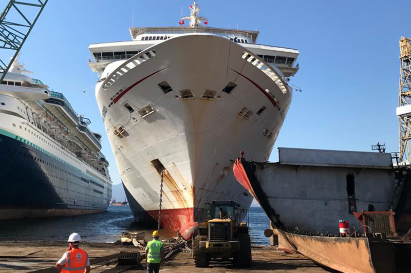 Carnival Fantasy arrived in her final destination; Turkey