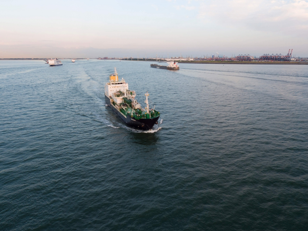 Japan's Ecobunker Shipping launched its first LNG bunker vessel