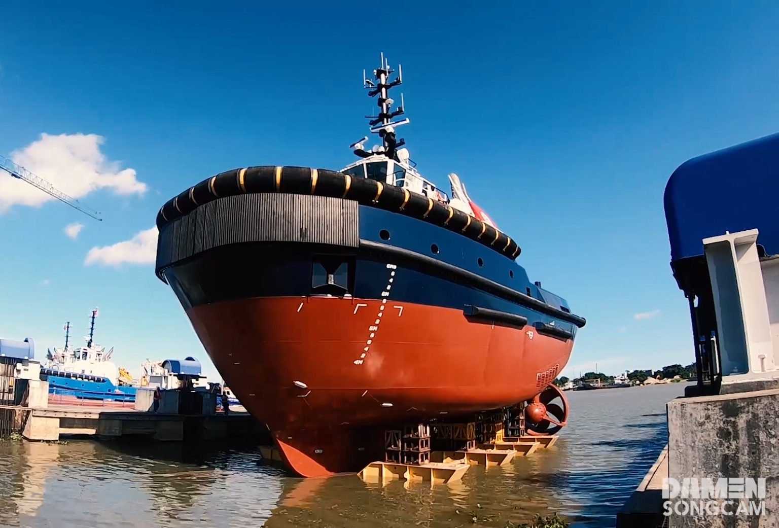 Damen launches two eco-friendly tugs for Port of Zeebrugge