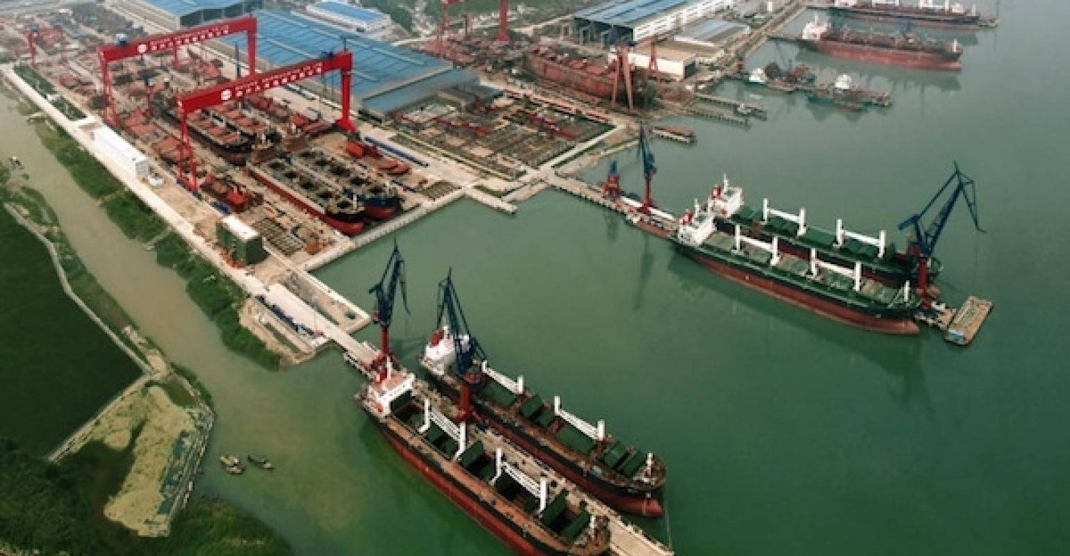 China's new shipbuilder Dayang makes its debut