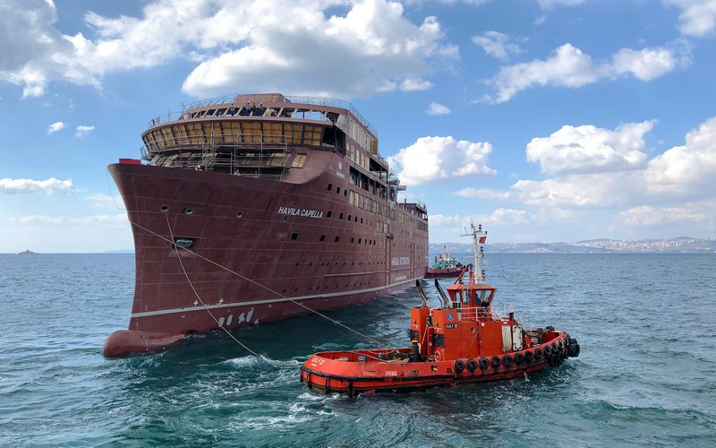 Havila's new ships launched at Tersan