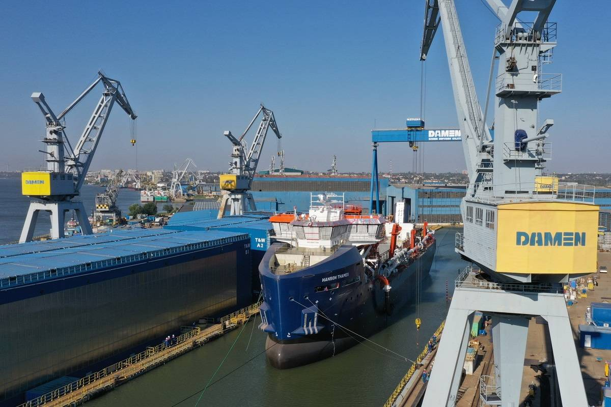 Damen Shipyards Group launches dredger for Hanson