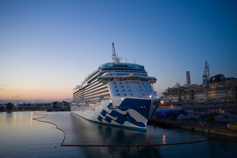 Fincantieri launched Enchanted Princess in Monfalcone