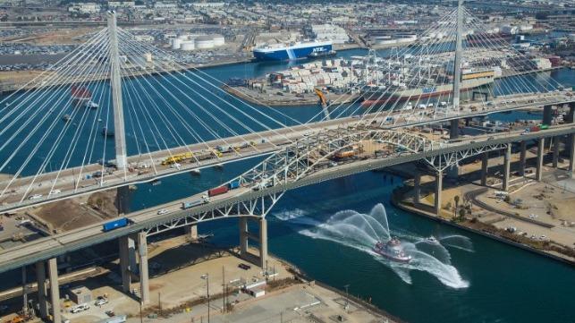 Port of Long Beach celebrates completion of harbor bridge