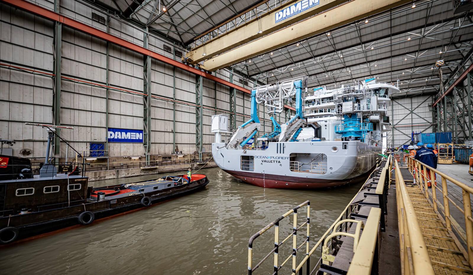 Damen completes rebuild of cutting-edge research vessel OceanXplorer