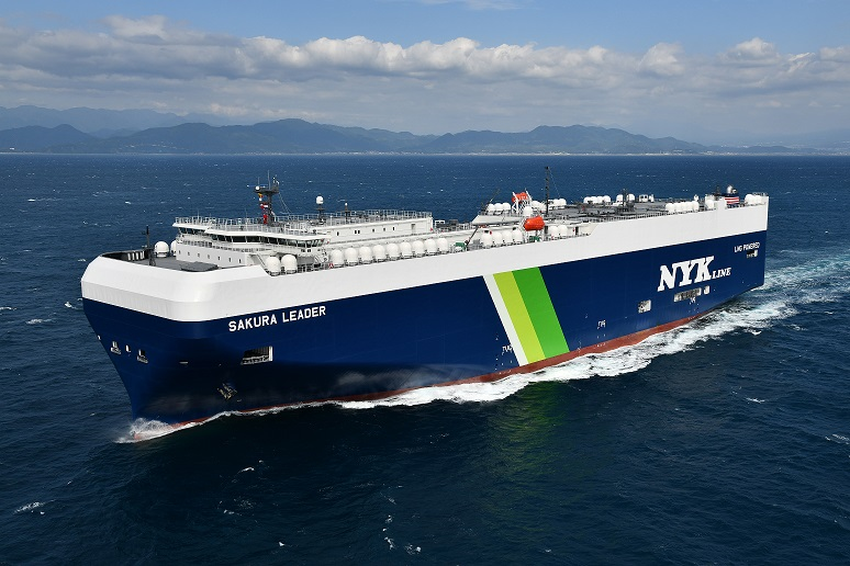 Nippon Yusen Kaisha receives first Japan-built LNG-fuelled PCTC