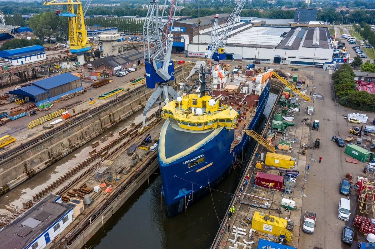Damen converts platform supply vessel into fish feed carrier