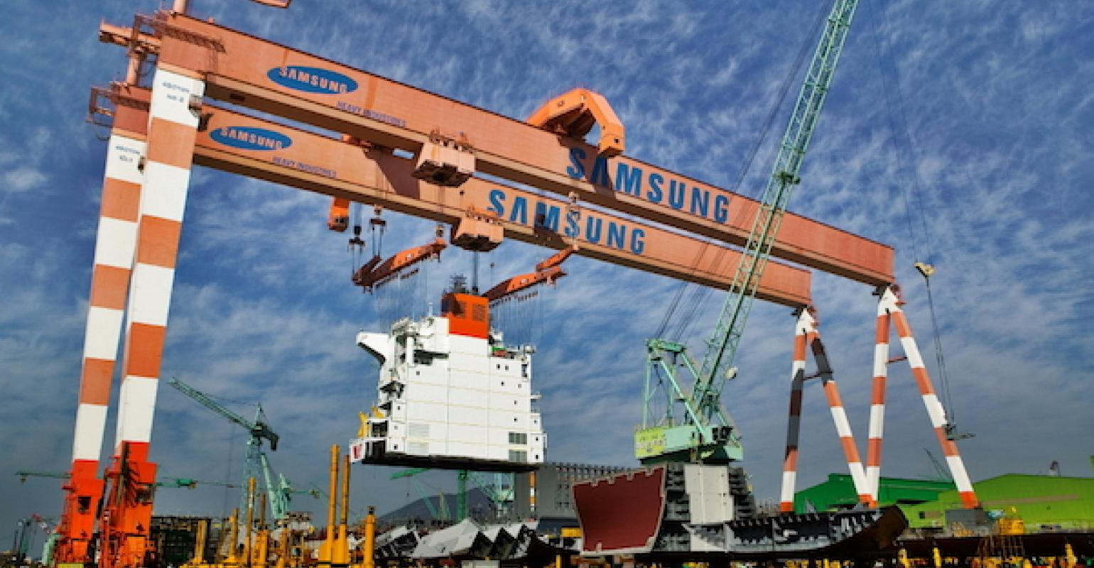 Samsung Heavy wins $2.5 bln order from European company