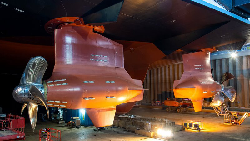 New Royal Caribbean vessel receives her podded propulsion units
