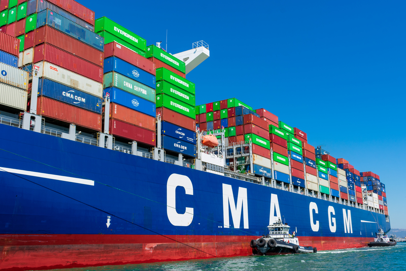 Third LNG-powered containership of CMA CGM leaves from China