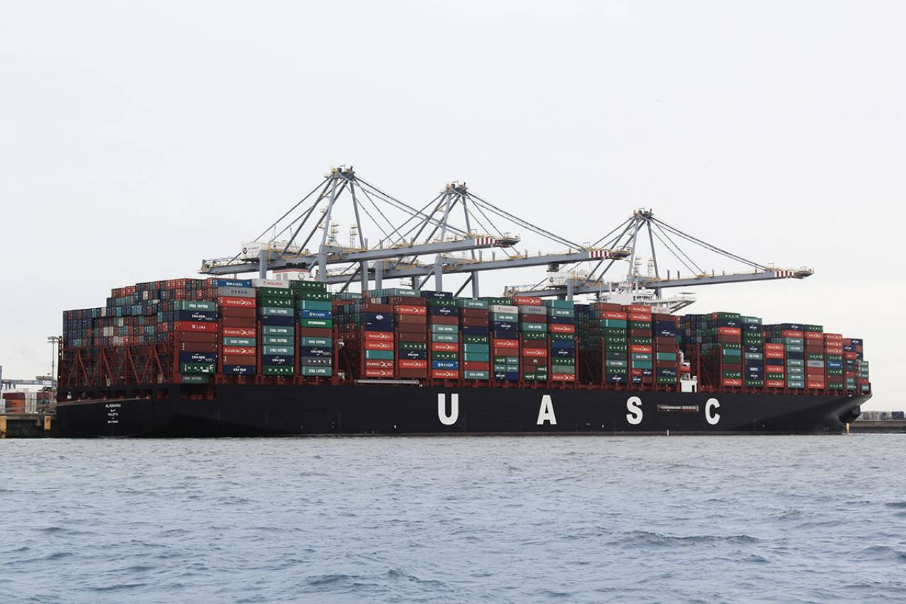 Containership grounded in Suez Canal for the second time in two months