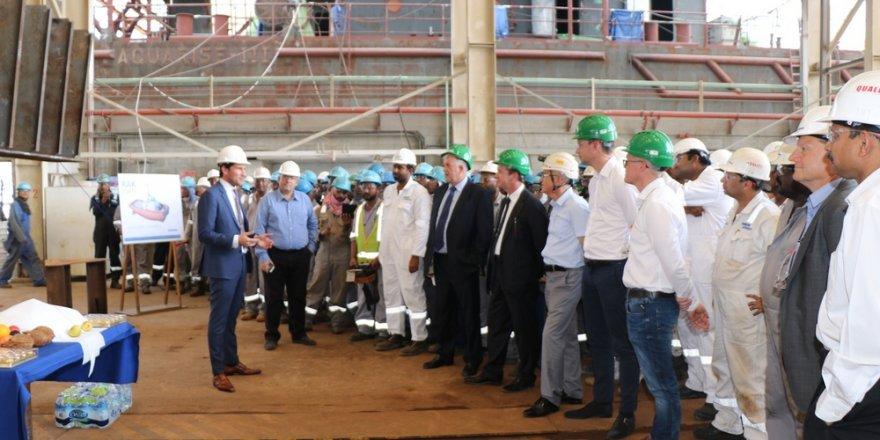 Keel-laying at Damen Shipyards Sharjah for RAK Ports ASD Tug 2913