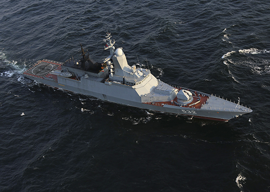 Russian Navy's corvette Boyky passes the Baltic Straits