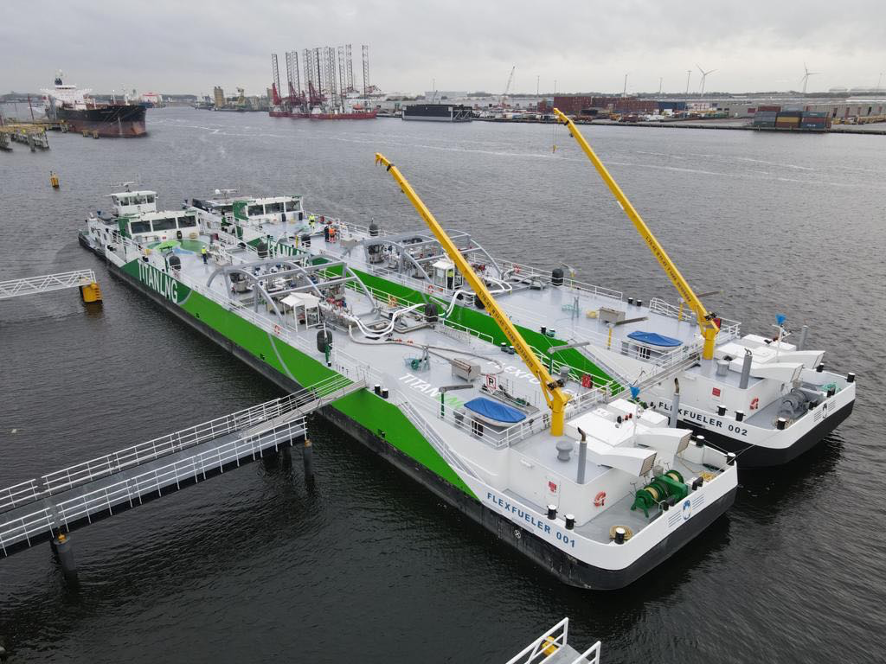 FlexFueler 002 LNG bunkering barge delivered