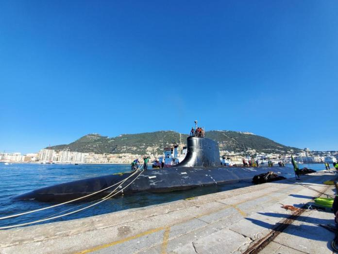 Fast-attack submarine of U.S. Navy visits Gibraltar