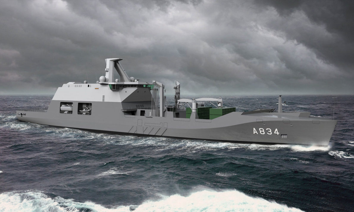 Damen Shipyards to construct Dutch Navy's combat support ship