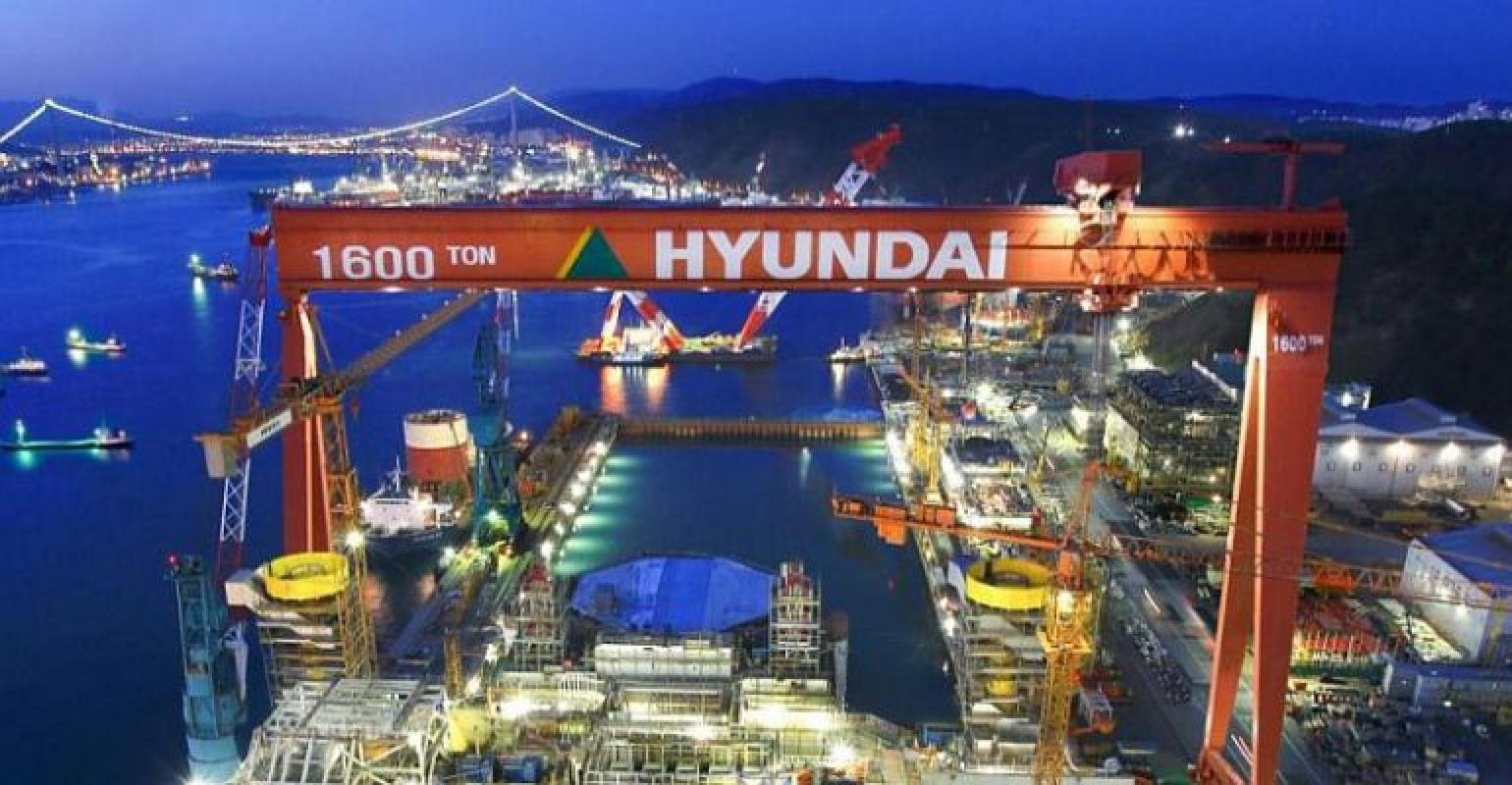 Hyundai Shipbuilding wins $450 mln deal to work for Myanmar's gas project