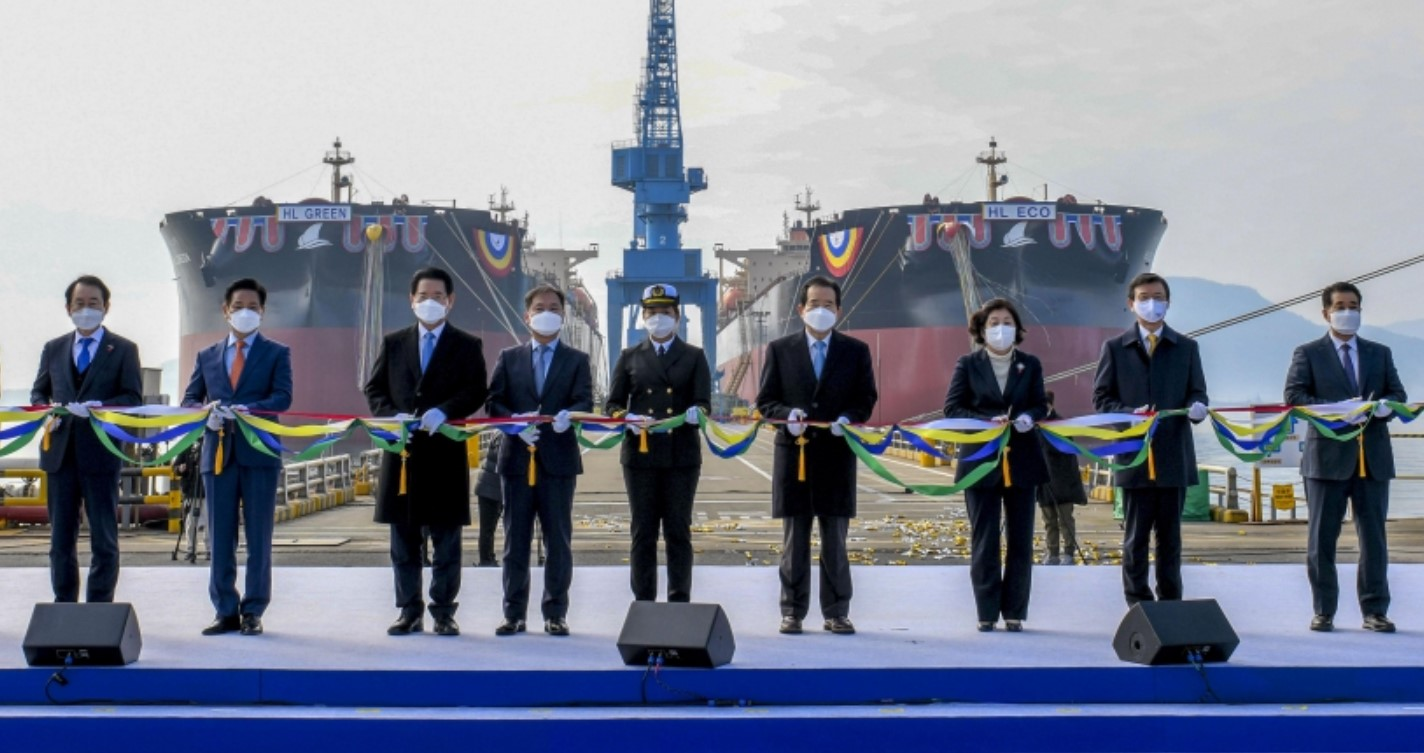 Hyundai Sampo completes construction of world's first LNG-powered large bulkers