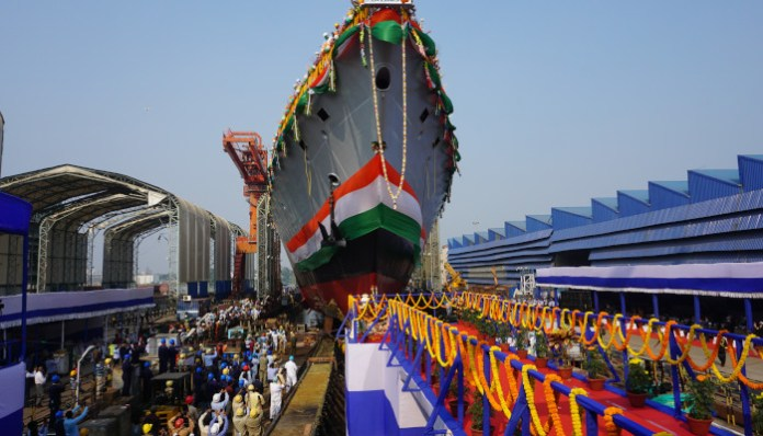 India launches the first of three Project 17A Stealth Frigates
