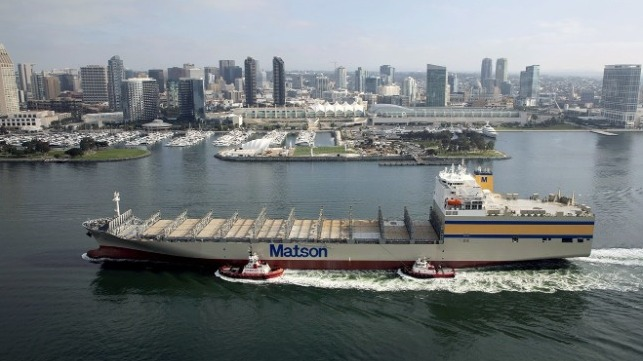 Matson takes delivery of the last ship in Hawaiian Fleet Renewal Program