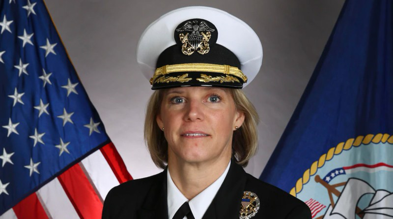 Capt. Bauernschmidt becomes the first female CO to lead aircraft carrier