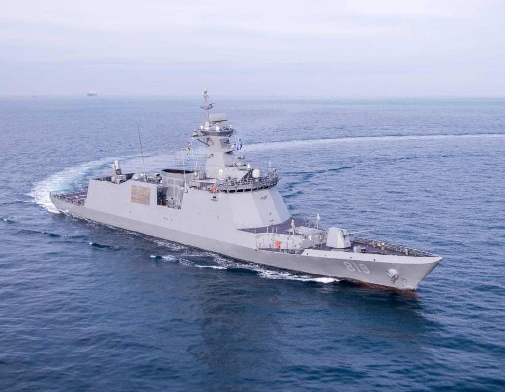 South Korean Navy formally commissions Daegu-class frigate ROKS Gyeongnam