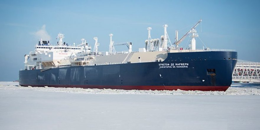 Christophe de Margerie completes its eastbound passage of the Northern Sea Route